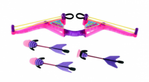 Zing Air Huntress Great gift for anyone that wants to learn how to use a Bow. Comes with 3 arrows, one has a suction where it will stick to the window. Get More Info/Buy Price $21.99