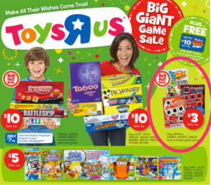 Toys R' Us Board game deals